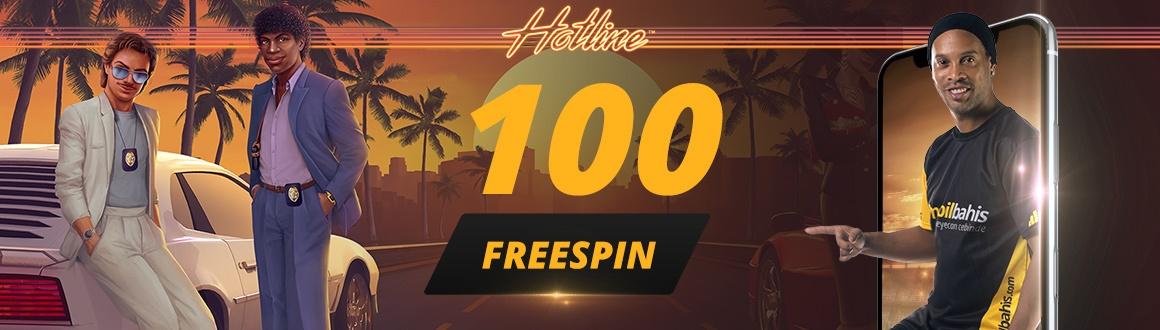 Hotline Slot Oyununda 100 Bedava Çevirme