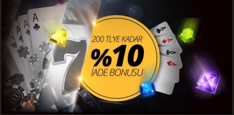 Mobilbahisde % 10 İade Bonusu