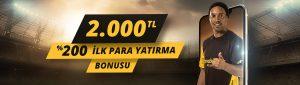 2000 TL üyelik Bonusu