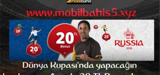 Mobilbahis'de Her Kupona 20 TL Bedava Bahis
