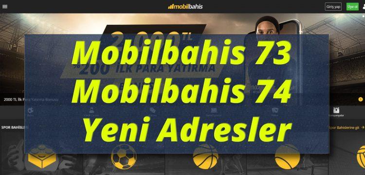 Mobilbahis 73 - Mobilbahis 74 Yeni Adresler