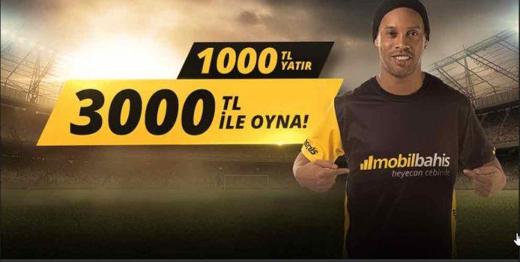 1000 TL yatır 3000 TL ile Bahis Yapmaya Başla Kampanyası Başlamıştır