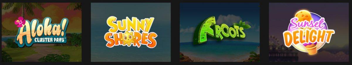 Aloha, Sunny Shores, Froots, Sunset Delight, Mobilbahis Freespin, Bedava Çevirme oyunları